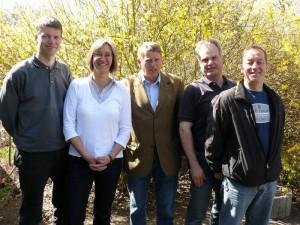 Der neue Vorstand, der von Lars Hartwig, Antje Schröter, Ullrich Schwarz, Eckard Gwildis und Ulrich Gröning gebildet wird.