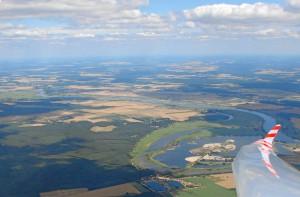 Die Elbe in der Nähe von Burg.