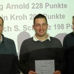 Pilotenwertung Landesliga. (v.l.n.r. A. Kroh - LSV Flensburg, J. Arnold - Grambeker Heide, U.Schwarz - LSV Kreis Segeberg e.V.)