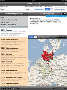 VFRiNOTAM der Deutschen Flugsicherung. Kosten: 5,99 € - Flugvorbereitung 2.0