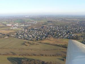 Blick über Wahlstedt hinweg in Richtung Fahrenkrug und Bad Segeberg.