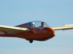 Dirk Völkering und Frank Tetens beim Landeanflug.