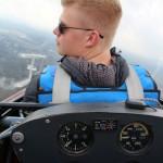 Jan-Michel Mette absolvierte routiniert seinen Überprüfungsstart mit Fluglehrer Eckart Gwildis.