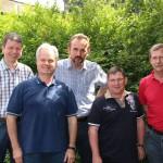 Der neue Vorstand: Lars Hartwig, Eckart Gwildis, Torsten Maaß, Jens Kröger und Werner Schmidt (v.l.n.r.)