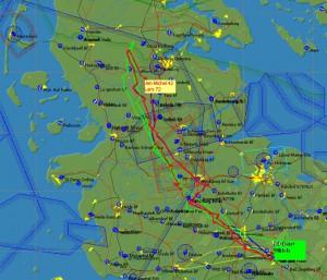Zwei gelungene Überlandflüge gen Norden absolvierten Jan-Michel und Lars im Teamflug, zusammen mit Ben und gleicher Streckenwahl folgten wir ihren Spuren.