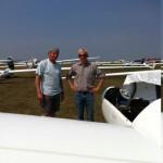 Stefan Delfs und Christoph Schwarz vor dem Start mit dem  Nimbus 4 DM