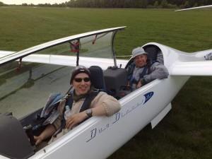 2010 - der gemeinsame Flug von Ulli und Christioph Schwarz Ende Mai war die perfekte Vorbereitung für den dann großen Flug im Juli.