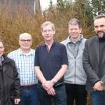 von  rechts Torsten Maaß, Lars Hartwig, Werner Schmidt, Thomas König, Jens Kröger