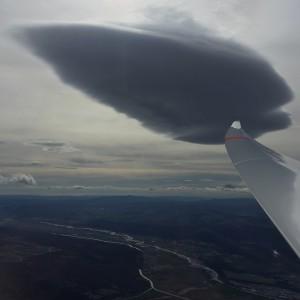 Beeindruckende Lenticularis-Wolke