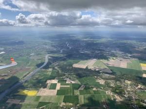 Auf dem Rückflug aus Polen: Gorzow Wielkopolski (Landsberg an der Warthe) in Polen