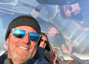 Marc-Anton Winter (vorne)  und Stefan Delfs im Cockpit des Nimbus 4DM
